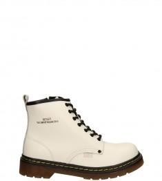 jasne obuwie typu martens