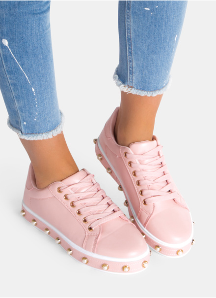 buty sportowe z perełkami