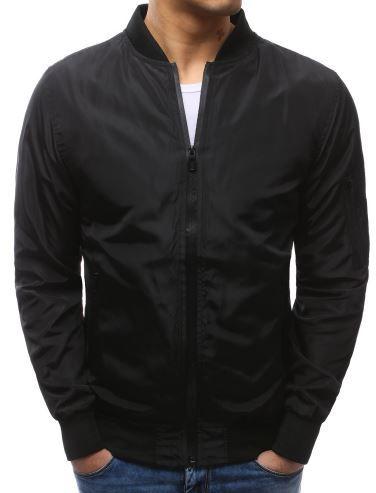 kurtka męska na wiosnę w kolorze czarnym