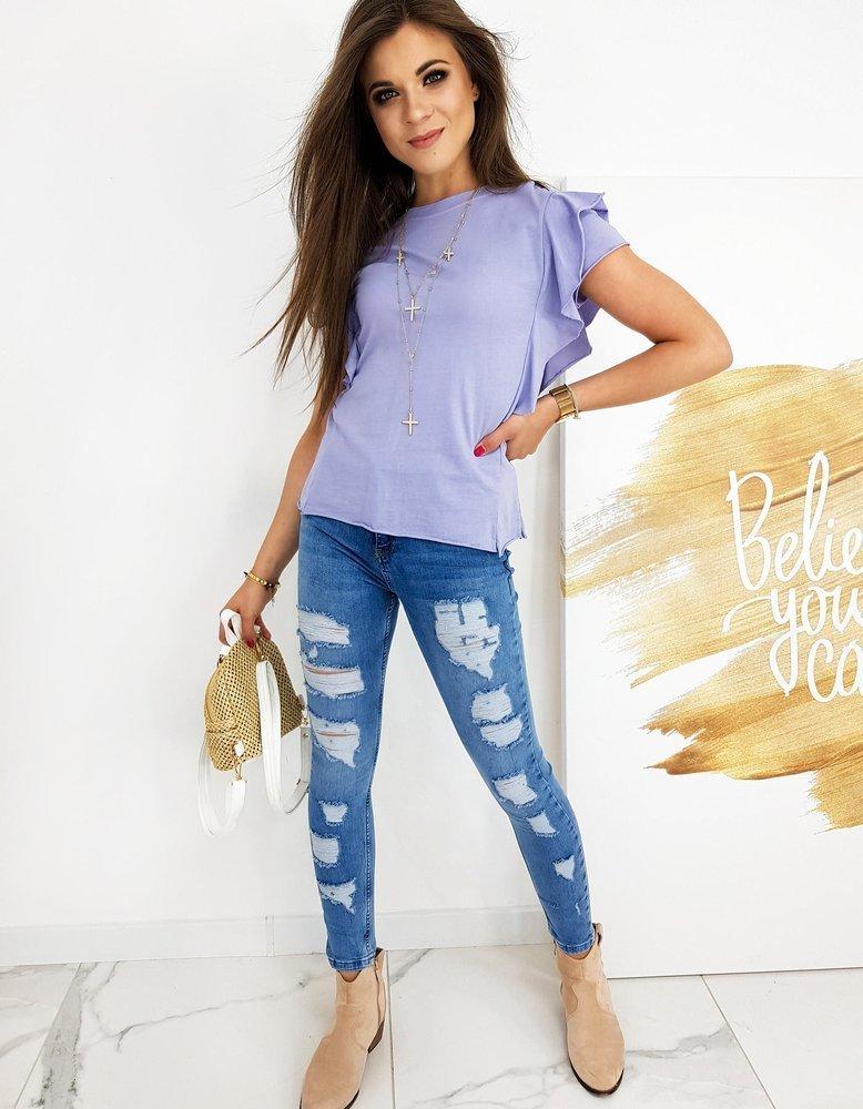 liliowa bluzka damska elegancka